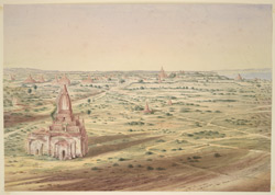 Panoramic view of, Pagân, looking S.S.E.